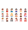 female office character business people in flat vector image