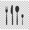 Fork spoon and knife sign Dark gray icon on vector image vector image