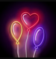 glow different form balloons vector image
