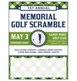 Golf Flyer Tournament vector image vector image
