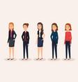 group businesswomen avatars characters vector image vector image