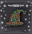happy new year celebrating poster vector image vector image