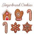 high quality watercolor gingerbread cookies vector image