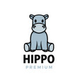 hippo thumb up mascot character logo icon vector image