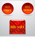 hot-sale-design-with-shopping-bag-eps10- vector image vector image