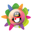 icon qq logo design with colorful graphics icon vector image vector image