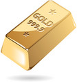 Isometric icon of gold bar vector image vector image
