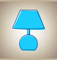 lamp sign sky blue icon with vector image