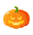 laughing grinning pumpkin jack-o-lantern with vector image vector image