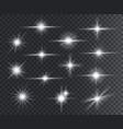 light effect lens flares glow light starburst vector image