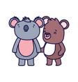 little teddy bear and koala cartoon character on vector image