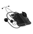 medical phonendoscope icon realistic style vector image