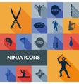 Ninja Icons Black Set vector image