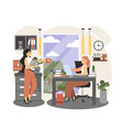 office people lifestyle two business women taking vector image vector image