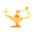 oil lamp ramadan related flat icon vector image vector image