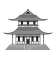 Pagoda icon gray monochrome style vector image vector image