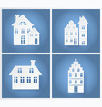 paper buildings silhouettes vector image