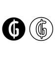 paraguayan guarani currency symbol icon vector image vector image