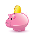 Pig Pocket Money Coin Cartoon vector image