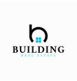 real estate initial letter b logo design template vector image