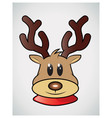 reindeer facegame vector image