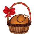 Roasted Turkey in a Basket vector image vector image