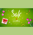 sale get up 30 percent off spring sale voucher vector image vector image