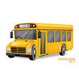school bus realistic detailed 3d vehicle vector image vector image