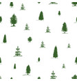 seamless pattern from sketch green tree pine fir vector image vector image