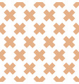 seamless pattern with crosses vector image vector image