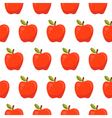 Seamless pattern with red apples vector image