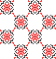 Seamless texture with red black abstract flowers vector image vector image