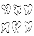 Set of tooth logo vector image vector image