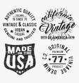 set of various vintage stamp vector image vector image