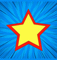 superstar comic bright template vector image vector image