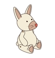 teddy bunny toy icon vector image vector image