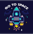 trendy print with rocket vector image vector image