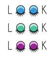 two eyelash extensions vector image vector image