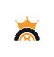 tyre king logo design vector image vector image