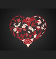 valentine in the form of branching and twisting vector image vector image