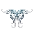 Wing shape tattoo vector image vector image