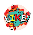 word like in pop art style vector image