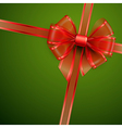 red transparent bow vector image