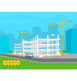 Building under construction vector image