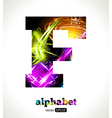 Design Abstract Letter F vector image