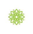 flower leaf logo vector image