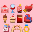 valentine day graphic collection vector image