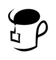 abstract tea cup symbol icon on white vector image