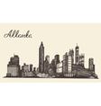 Atlanta skyline engraved hand drawn sketch vector image vector image