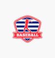 baseball logo badge-10 vector image vector image